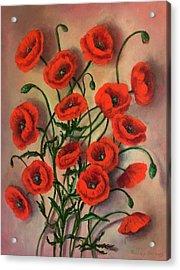 Flander Poppies Acrylic Print