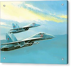 Flankers In Formation Acrylic Print