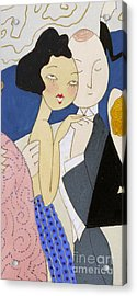 Flapper Roaring 20s Couple Dancing Phone Case Acrylic Print by Edward Fielding