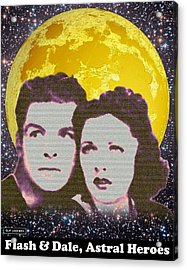 Flash And Dale - Astral Heroes Acrylic Print by Clif Jackson