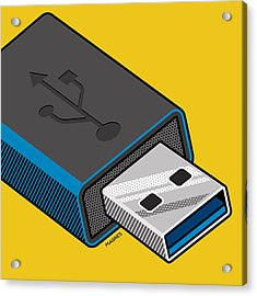 Acrylic Print featuring the digital art Flash Drive by Ron Magnes
