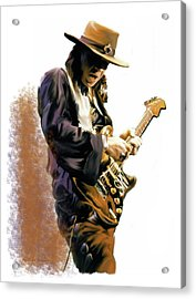 Flash Point Stevie Ray Vaughan Acrylic Print by Iconic Images Art Gallery David Pucciarelli
