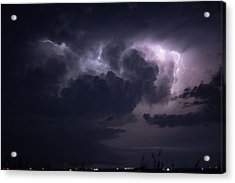 Flashes Of Lightening Acrylic Print