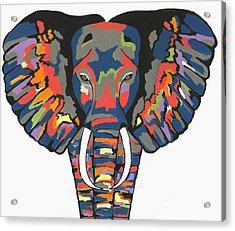 Flashy Elephant - Contemporary Animal Painting Acrylic Print