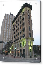 Flat Iron Building Fort Worth Texas Acrylic Print by Shawn Hughes