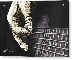 Flat Pickin' Acrylic Print by David Fossaceca