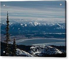 Flathead Valley In The Winter Acrylic Print