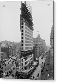 Flatiron Building During Construction Acrylic Print by Everett