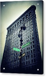 Acrylic Print featuring the photograph Flatiron Directions by Jessica Jenney