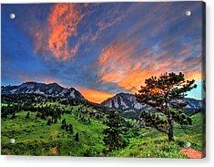 Flatiron Glow Acrylic Print