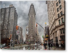 Acrylic Print featuring the photograph Flatiron Loveliness by Alison Frank