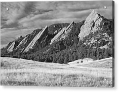 Flatiron Morning Light Boulder Colorado Bw Acrylic Print