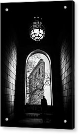 Acrylic Print featuring the photograph Flatiron Perspective by Jessica Jenney