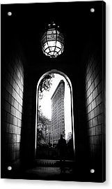 Acrylic Print featuring the photograph Flatiron Point Of View by Jessica Jenney