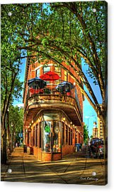 Flatiron Style Pickle Barrel Building Chattanooga Tennessee Acrylic Print by Reid Callaway