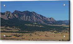 Acrylic Print featuring the photograph Flatirons Of Boulder by Christopher Kirby