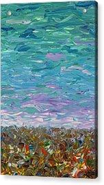 Flatland - Cloudy Day Acrylic Print by James W Johnson