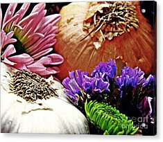 Flavored With Onion And Garlic Acrylic Print by Sarah Loft