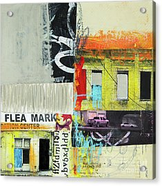 Acrylic Print featuring the mixed media Flea Mark by Elena Nosyreva