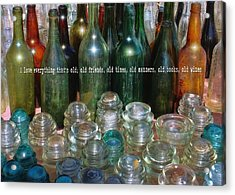 Flea Market Quote Acrylic Print by JAMART Photography