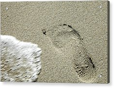 Fleeting Footprint - South Beach Miami Acrylic Print