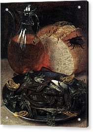 Flegel Georg Still Life With Fish Acrylic Print