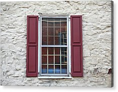 Acrylic Print featuring the photograph Flemington, Nj - Side Shop Window by Frank Romeo