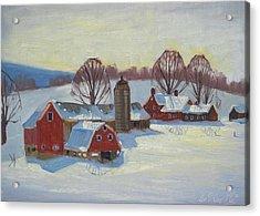 Fletcher Farm Acrylic Print by Len Stomski