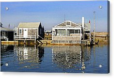 Acrylic Print featuring the photograph Fletchers Camp And The Little House Sandy Neck by Charles Harden