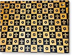 Fleur De Lis Floor Acrylic Print by Eric Tressler