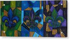 Fleur De Lis Trinity Acrylic Print by Patti Schermerhorn