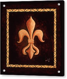 Fleur De Lys-king Louis Xv Acrylic Print