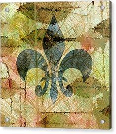 Fleur De Lys Nature Acrylic Print