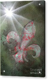 Acrylic Print featuring the painting Fleur Di Lis by Tbone Oliver