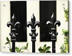 Fleur Di Lis Trio Acrylic Print