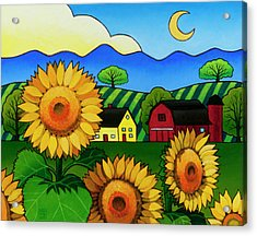 Fleur Du Soleil Acrylic Print