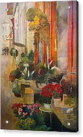 Fleuriste Acrylic Print by Victoria Heryet
