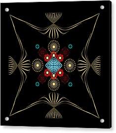 Acrylic Print featuring the digital art Fleuron Composition No. 1 by Alan Bennington
