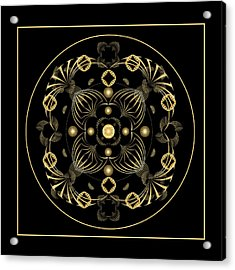 Acrylic Print featuring the digital art Fleuron Composition No. 20 by Alan Bennington