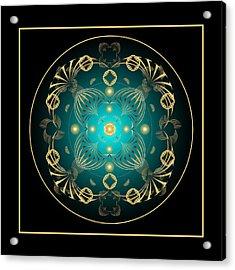 Acrylic Print featuring the digital art Fleuron Composition No. 21 by Alan Bennington