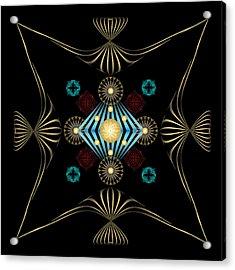 Acrylic Print featuring the digital art Fleuron Composition No. 3 by Alan Bennington