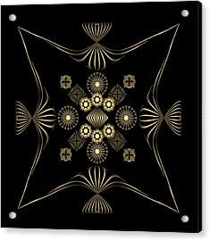 Acrylic Print featuring the digital art Fleuron Composition No. 4 by Alan Bennington