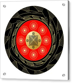 Acrylic Print featuring the digital art Fleuron Composition No. 44 by Alan Bennington