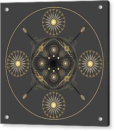 Acrylic Print featuring the digital art Fleuron Composition No. 57 by Alan Bennington