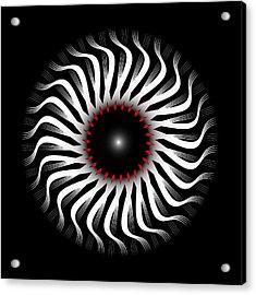 Acrylic Print featuring the digital art Fleuron Composition No. 82 by Alan Bennington