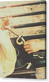 Flicking The Needle Acrylic Print by Jorgo Photography - Wall Art Gallery
