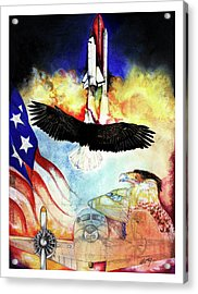 Acrylic Print featuring the mixed media Flight by Anthony Burks Sr
