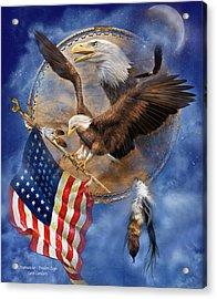 Flight For Freedom Acrylic Print by Carol Cavalaris