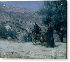 Flight Into Egypt Acrylic Print by Henry Ossawa Tanner