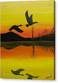 Flight Of Freedom Acrylic Print by Doug Wilkie